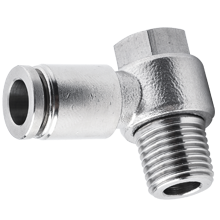 10 mm O.D Tubing, R, PT, BSPT 3/8 90-Degree Banjo Elbow Stainless Steel Push in Fitting
