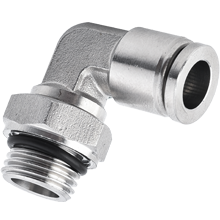 12 mm O.D Tubing, BSPP, G 3/8 Male Elbow Swivel Stainless Steel Push in Fitting