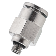 6 mm Tube x M5 Thread Male Stud Fitting Brass Push in Fitting