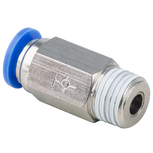 8mm Tube OD to R, BSPT 1/4 Thread Male Straight Check Valve