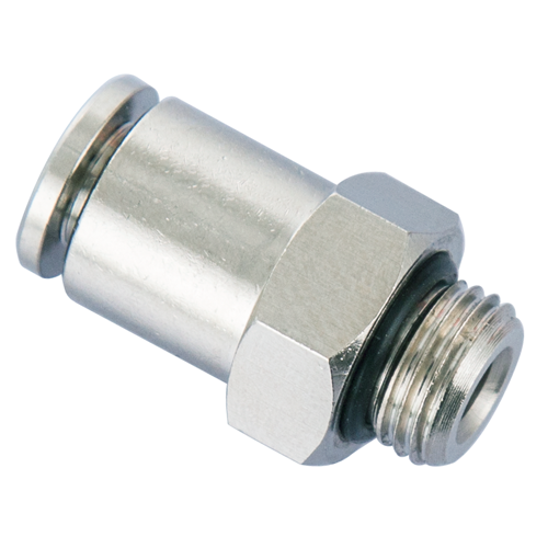 6mm Tube, M10x1 thread Male Straight, Male Connector Brass Push in Fitting
