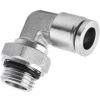 12 mm O.D Tubing, BSPP, G 3/8 Thread Male Elbow Swivel Stainless Steel Push in Fitting
